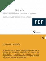 Descripción y Análisis Cargos
