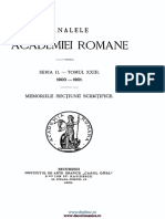 Analele Academiei Române. Memoriile Secţiunii Ştiinţifice. Seria 2. Tomul 23
