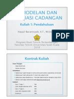 Evcad Kuliah 1 2018