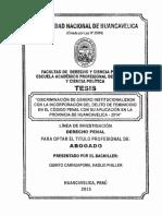DISCRIMINACIÓN DE GÉNERO INSTITUCIONALIZADA CON LA  INCORPORACIÓN DEL DEUTO DE FEMINICIDIO EN EL CÓDIGO PENAL CON SU APLICACIÓN EN  LA PROVINCIA DE HUANCAVELICA