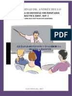 Actividad de Práctica Docente, Guía de Autoeval. Rudy, Unab 2017