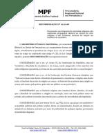 Recomendação do Ministério Público Eleitoral
