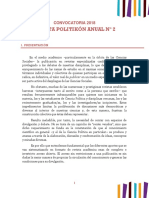 Convocatoria 2018 Revista Politikón