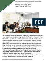 24-04-18 Aprueban en comisiones protocolo que modifica convenio aéreo entre México y Canadá _ MPV_ opinión, ciudadanos, PRI, PAN, PRD