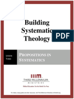 Building Systematic Theology – Lesson 3 – Transcript