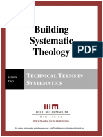 Building Systematic Theology – Lesson 2 – Transcript
