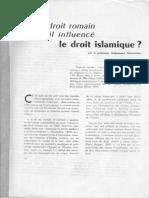 1960 Le Droit Romain a-t-il Influencé Le Droit Islamique
