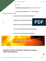 Análisis de Oro y Plata por Ensayo al Fuego y Absorción Atómica – AMV CONSULTORES