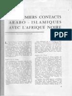 1960 Les Premiers Contacts Arabo-Islamiques Avec l'Afrique Noire