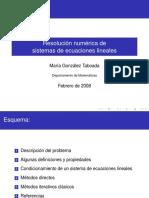 Resolucion Numerica de Sistemas de Ecuaciones Lineales