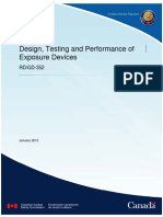 January 25 2012 RDGD 352 Design Testing and Performance of Exposure Devices e