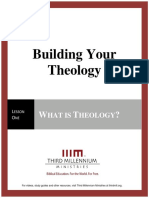 Building Your Theology – Lesson 1 – Transcript