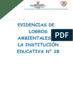 Evidencias de Logros Ambientales de La Institución Educativa n