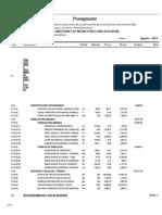 02.01 Presupuesto Adecuadas Condiciones de Infraestructura Educativa