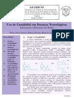 Boletim Informativo - Uso de Canabidiol Em Doenças Neurológicas