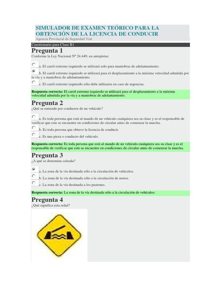 Simulador De Examen Teorico Para La Obtencion De La Licencia De Conducir Airbag Licencia De Conducir