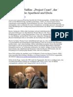 """Biologische Waffen - """"Project Coast"""", Der Giftmischer Der Apartheid Und Ebola"""