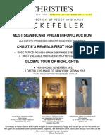 Christie's November Announcement of Rockefeller Sales