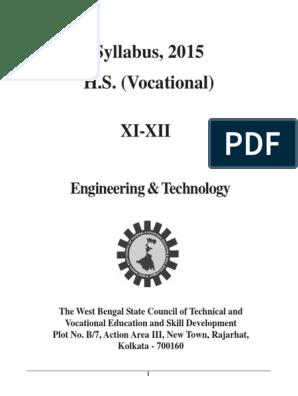 Syllabus ET | Vocational Education | Technology