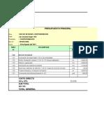 Presupuesto Para Fórmula Polinómica Corregido Con Apu