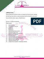 Protocolos Nelcy Martinez Estetica Facial y Corporal N