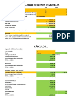 Plantilla Para Pago de Bienes Inmuebles Tablas 2018