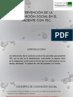 Intervención de La Cognición Social en El Paciente