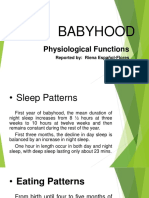 BABYHOOD Physiological Devt.