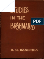 Studies in the Brahmanas - A.C. Banerjera