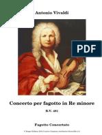 RV 481 D Minor Bassoon Concerto