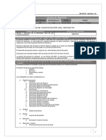 B. Acta de Constitución Del Proyecto