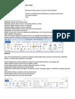 Barras de Herramienta de Microsoft Word y Iconos de Word