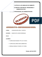 ACTIVIDAD 3 - Responsabilidad Social comunicacion oral y escrita
