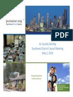 Puget Sound Clean Air Agency presentation for Southwest District Council