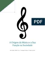 A Origem Da Música e a Sua Função Na Sociedade