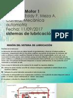 Diapositiva de Motor Sistema de Lubricacion
