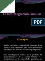 La Desintegración Familiar
