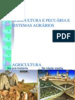 Agricultura e Pecuária e Sistemas Agrários 1 Fase......