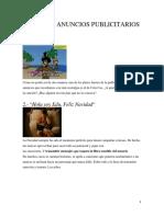 PRIMEROS ANUNCIOS PUBLICITARIOS