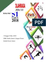 Cover Buku Kejohanan Olahraga 2018