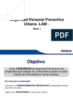 Comportamientos Preventivos de Seguridad LAM SP