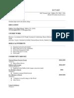 graduation resume- kylee bundy