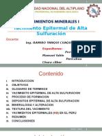 Yacimiento Epitermal de Alta Sulfuracion HUISA