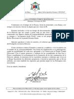 Carta Colecta Fondo Común Diocesano (13 de mayo de 2018)