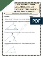 Recuperación Teoremas Del Seno, Coseno y Tangente. (1)
