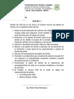 Acta Nro 1 Reunión Padres de Familia.