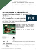 Normas Establecidas Por INVIMA (Colombia) _ QuimiNet.com