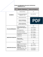 Directorio Telefónico de Emergencia Rsalazar Contratistas Generales e