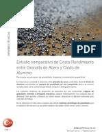 Abrasivos Granalla Acero Oxido Aluminio Comparativos Costo Cymmateriales Sandblasting Arenado