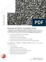 ABRASIVOS Granalla Acero Inoxidable Angular Grital Cym Blastcleaning